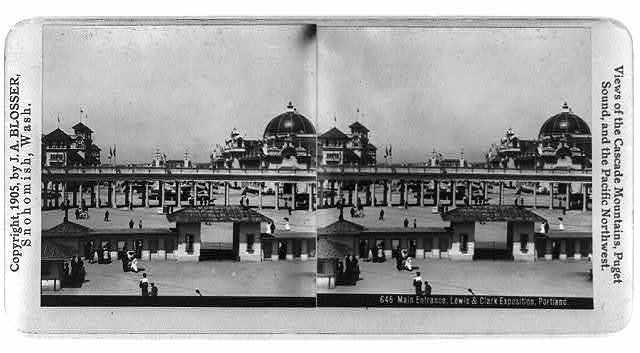 Main entrance, Lewis & Clark Exposition, Portland, Ore.