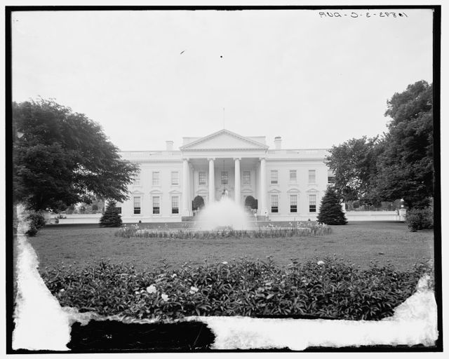 Main entrance, the White House, Washington, D.C.