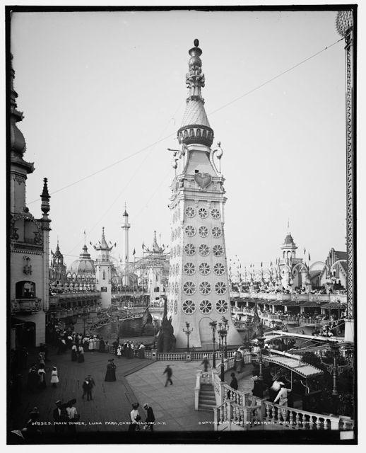 Main tower, Luna Park, Coney Island, N.Y.