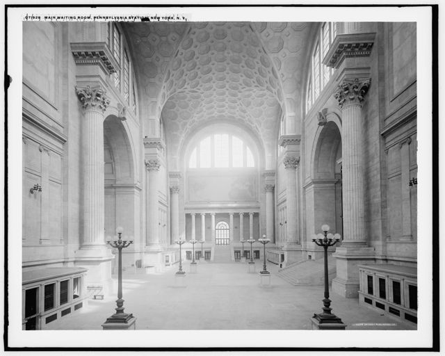 Main waiting room, Pennsylvania Station, New York, N.Y.