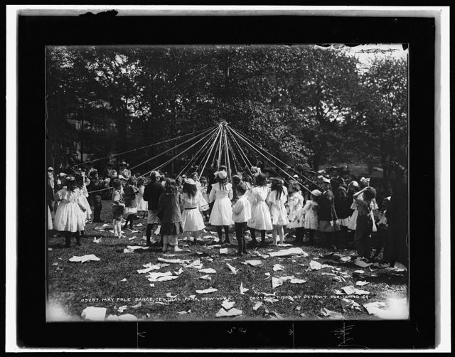 Maypole dance, Central Park, New York