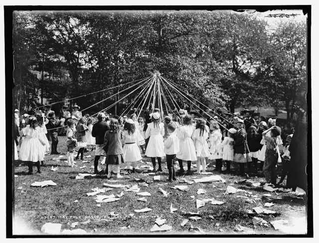 Maypole dance, Central Park, New York