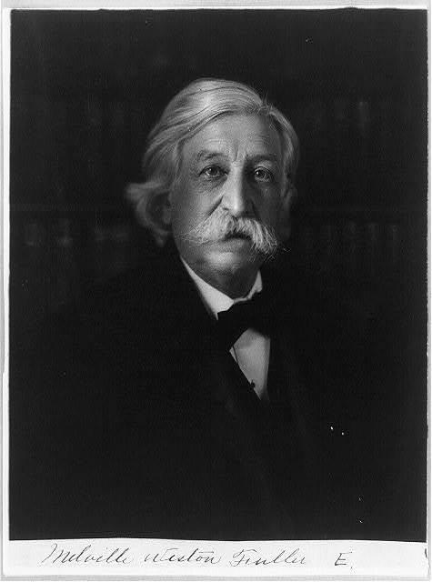 [Melville Weston Fuller, Chief Justice, half-length portrait, facing right]