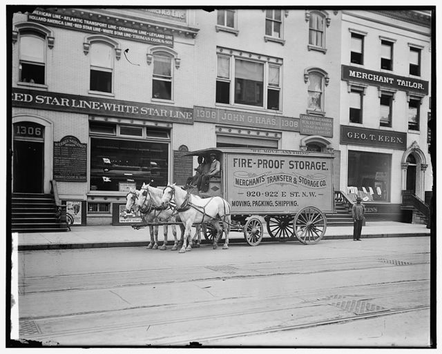 MERCHANTS TRANSFER & STORAGE CO. STREET SCENE