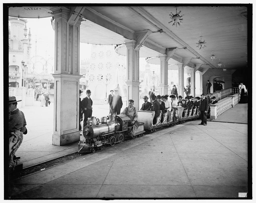 [Miniature railway, Coney Island, New York]