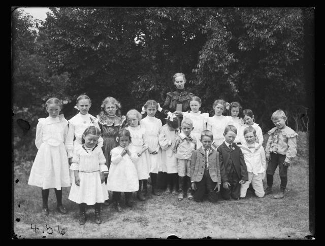 Miss C. Smith's Sunday School class picnic at White Ridge Park, Kearney,  Nebraska