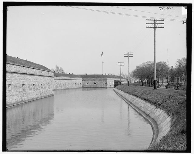 [Moat and ramparts, Fort Monroe, Va.]