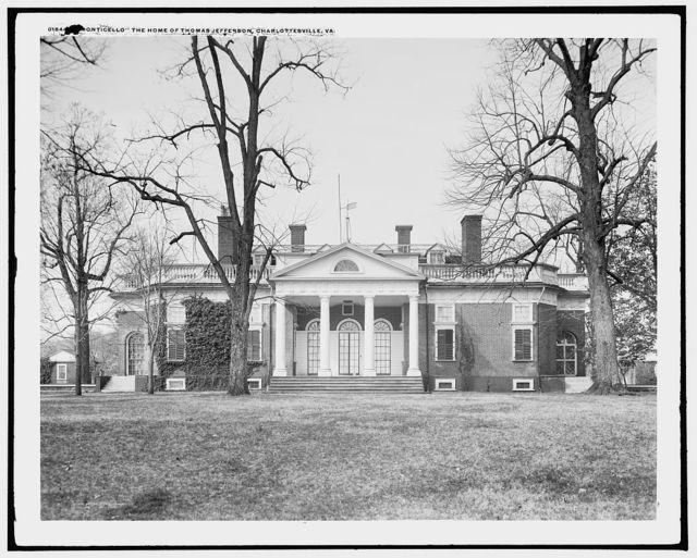 Monticello, the home of Thomas Jefferson, Charlottesville, Va.