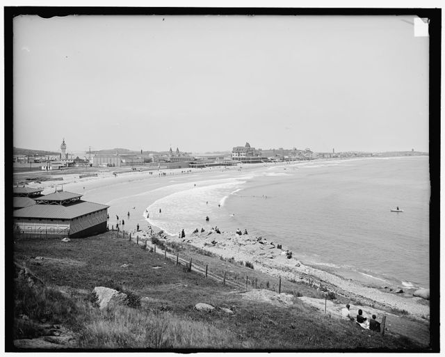 [Nantasket Beach, Mass., general view from Atlantic House]