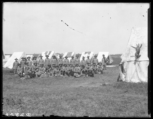Nebraska National Guard in the field with tents, Kearney, Nebraska.