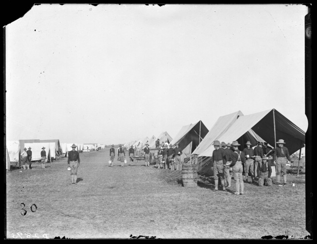 Nebraska National Guardsmen in camp, Kearney, Nebraska.