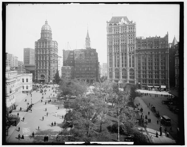 Newspaper Row, [Park Row], New York