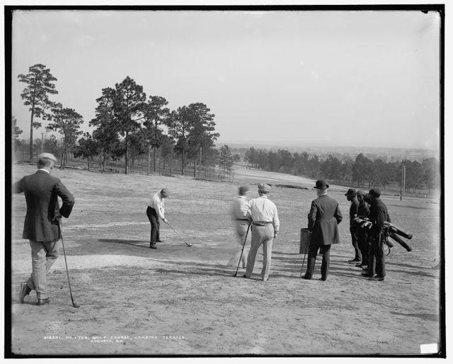 No. 1 tee, golf course, Hampton Terrace, Augusta, Ga.