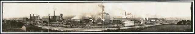 [Ohio Steel Works and furnaces, view of west side, 1905]