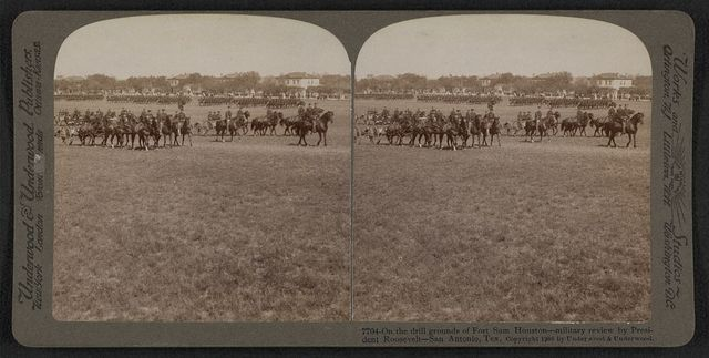 On the drill grounds of Fort Sam Houston - military review by President Roosevelt - San Antonio, Texas