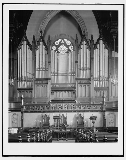 [Organ at Fort Street Presbyterian Church, Detroit, Mich.]