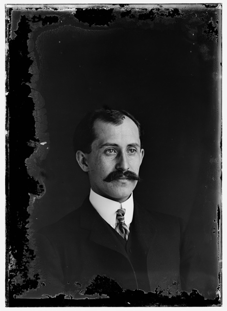 [Orville Wright, age 34, head and shoulders, with mustache]