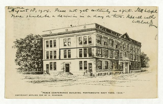Peace Conference building. Portsmouth Navy Yard, 1905