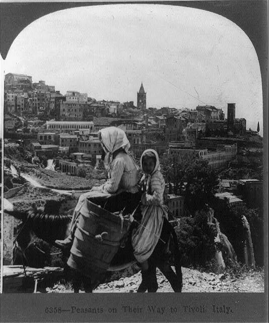 Peasants on their way to Tivoli, Italy