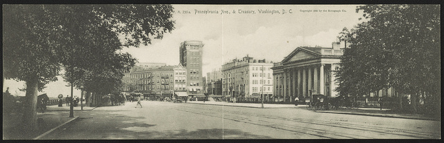 Pennsylvania Avenue & Treasury, Washington, D.C. / The Rotograph Co.