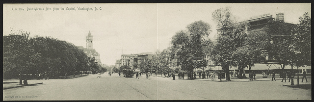 Pennsylvania Avenue from the Capitol, Washington, D.C. / The Rotograph Co.