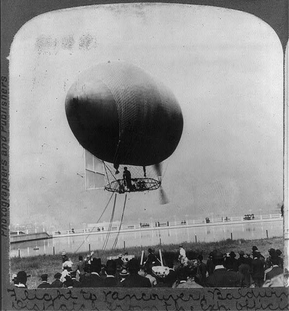 Portland, Oregon: A flight to Vancouver, Baldwin's airship carrying a dispatch from the exhibition officials