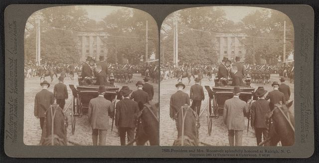 President and Mrs. Roosevelt splendidly honored at Raleigh, N.C.