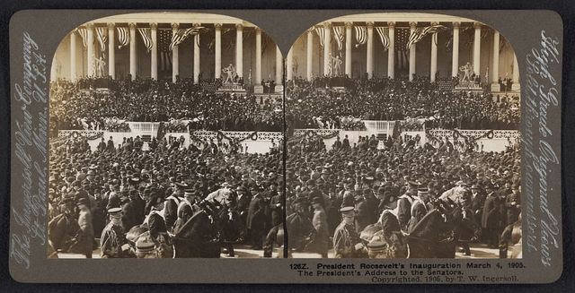 President Roosevelt's inauguration, March 4, 1905 The President's address to the Senators.