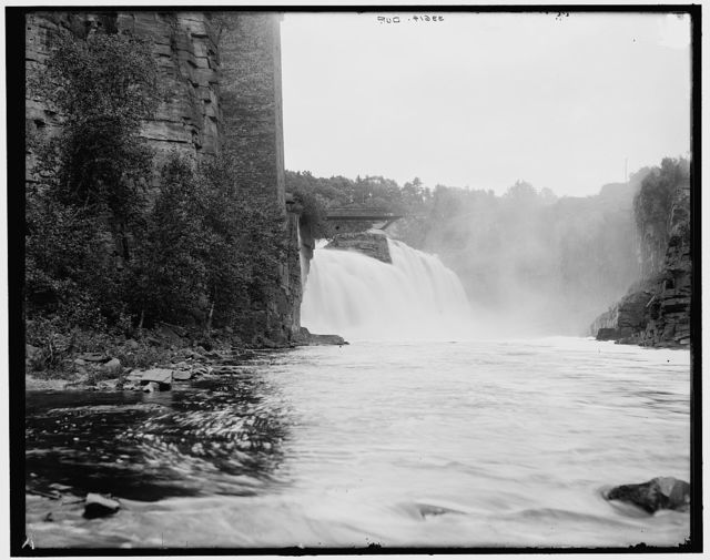 [Rainbow Falls, distant view, Ausable Chasm, N.Y.]