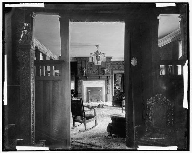 [Residence of A. Buhl, Iroquois Avenue, hall and parlor, Detroit, Mich.]