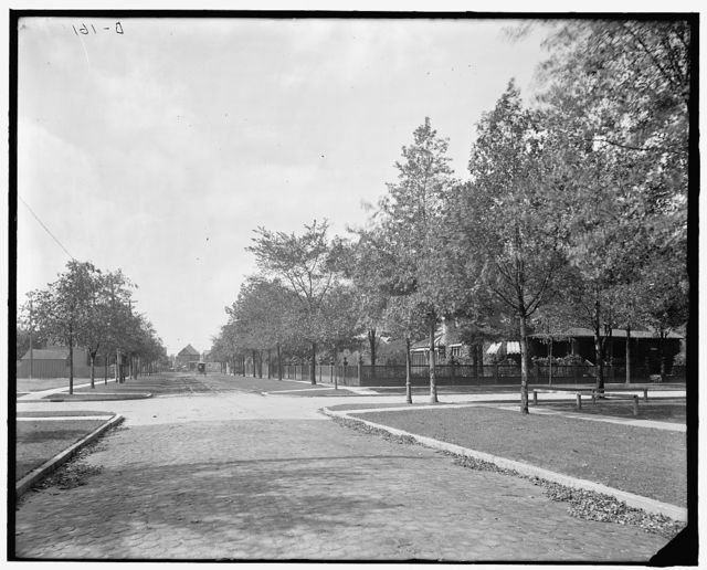 [Robbin's corner, looking west, Walkerville, Ont.]