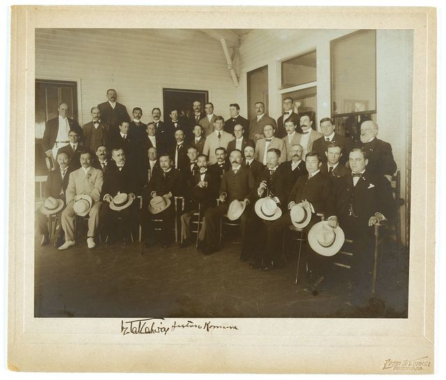 Russian & Japanese delegates and members of the press / Perry E. Conner, Portsmouth, N.H.