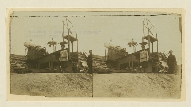 [Russian gun with 9 in. shell ready to load -- at Wolf Battery during the siege of Port Arthur]