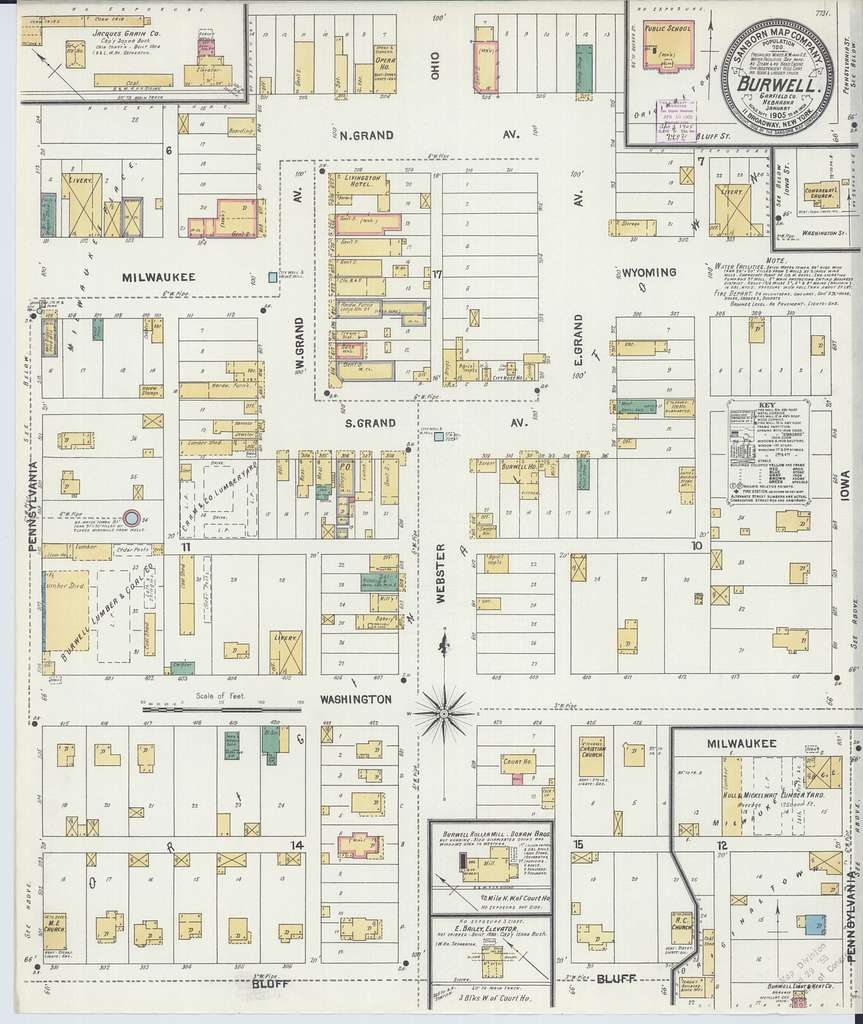 Sanborn Fire Insurance Map from Burwell, Gairfield County, Nebraska