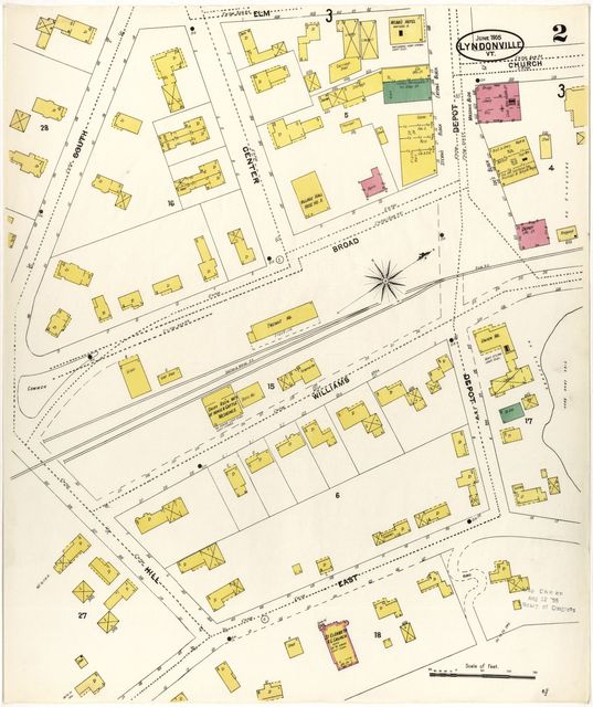 Sanborn Fire Insurance Map from Lyndonville, Caledonia County, Vermont.