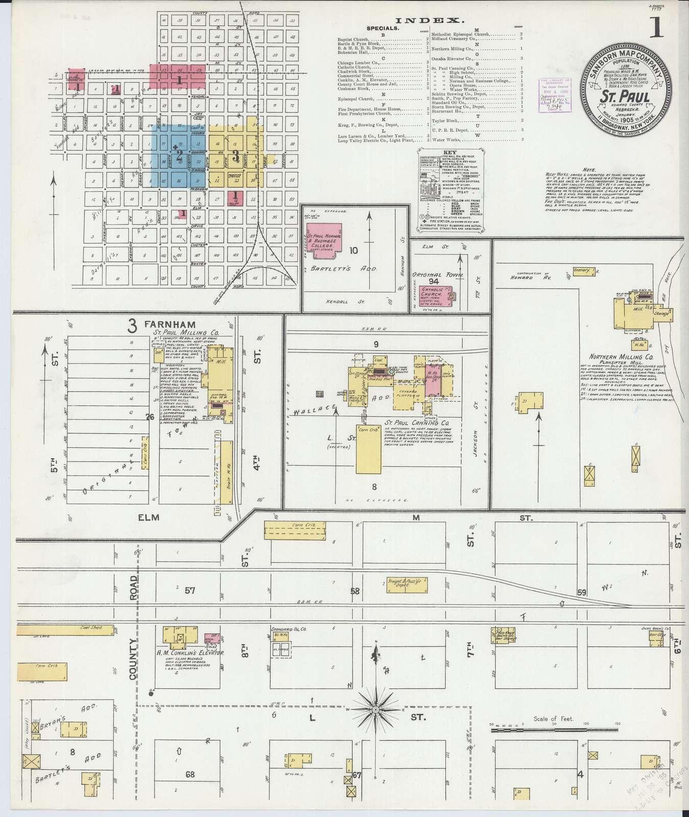 Sanborn Fire Insurance Map from Saint Paul, Howard County, Nebraska.
