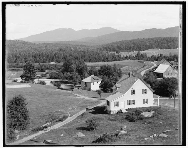 [Saranac Club, road to golf links and Ampersand Mountain, Adirondacks, N.Y.]