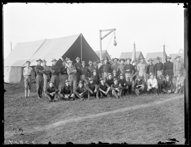 Second Regiment Officers of the Nebraska National Guard, Kearney, Nebraska.