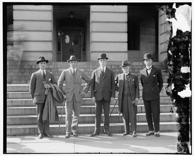 Sec'y Hughes and Secretaries
