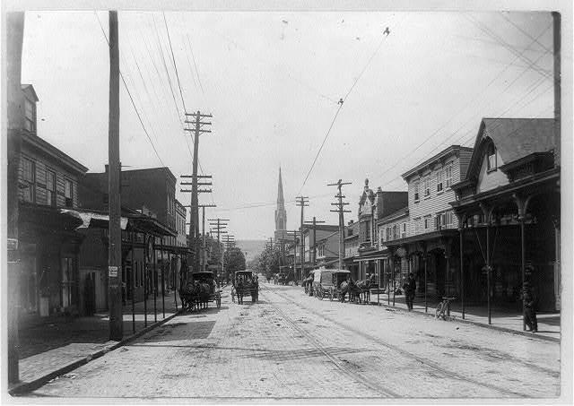 Shamokin Street looking south from the railroad crossing, Shamokin, Pa.