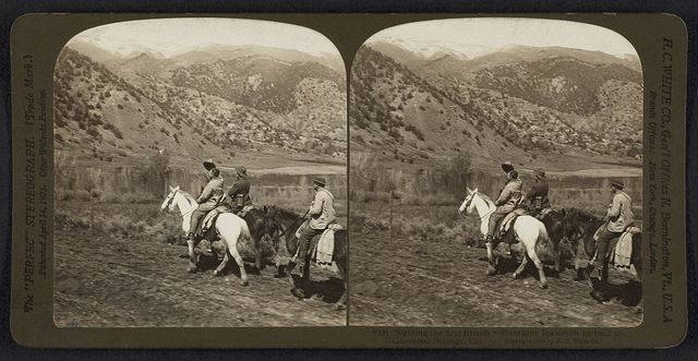 Sighting the first friends, - President Roosevelt on the road to Glenwood Springs, Colorado