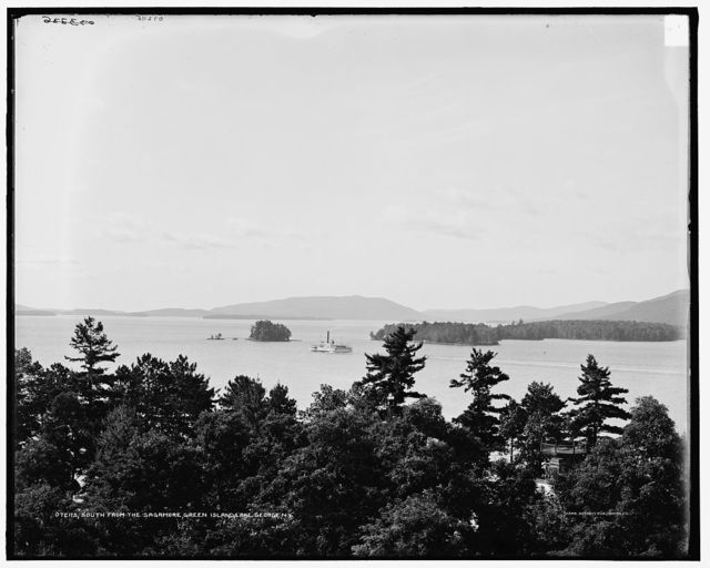 South, from the Sagamore, Green Island, Lake George, N.Y.