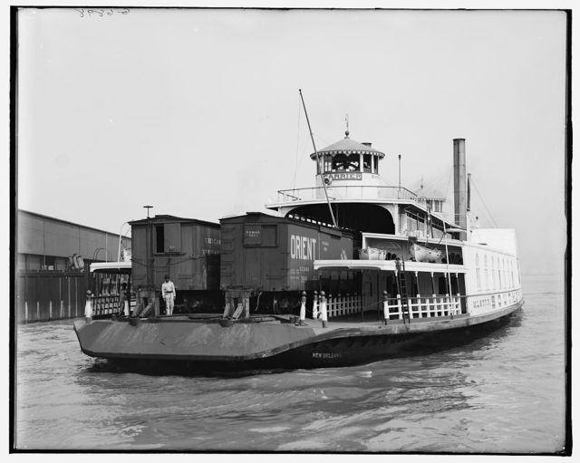 [Southern Pacific Railroad transfer boat carrier, New Orleans, La.]