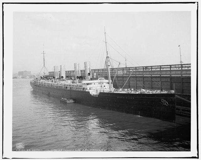 S.S. Deutschland, Hamburg America line pier, Hoboken, N.J.