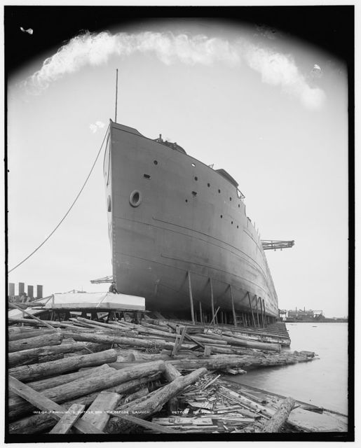 S.S. William G. Mather, bow view before launch