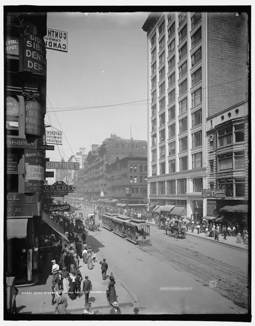 State St., looking towards Adams St., Chicago, Ill.