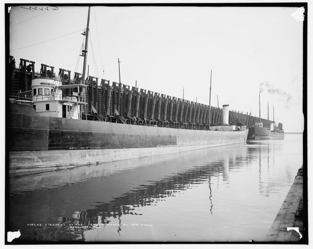 Steamers at the South Shore Ry. ore docks, Marquette, Mich.