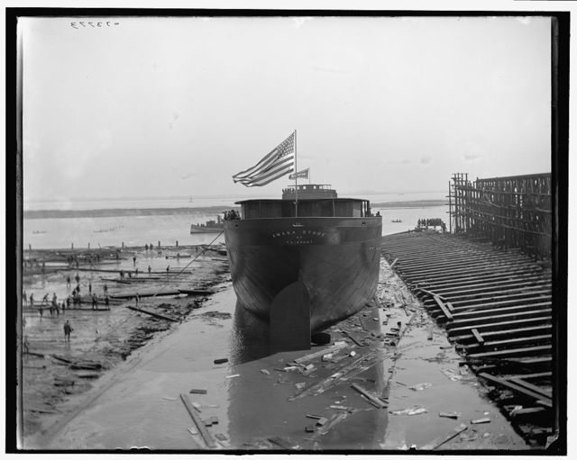 [Str. Amasa Stone, stern view, after the launch]