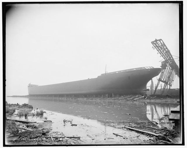 Str. Hoover and Mason, broadside, before the launch