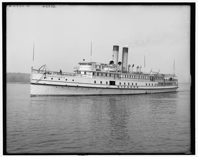 [Str. Pennsylvania, N.Y.P. & N. R.R. (New York, Philadelphia and Norfolk Railroad)]